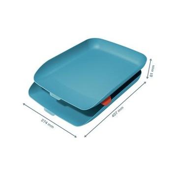 LEITZ 53581061 vassoio da scrivania Polistirene (PS) Blu