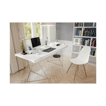 LEITZ 53611001 vassoio da scrivania Polistirolo Metallico, Bianco