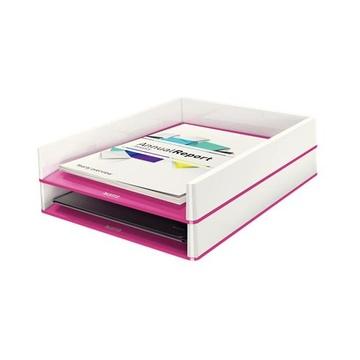 LEITZ 53611023 vassoio da scrivania Polistirolo Metallico, Rosa