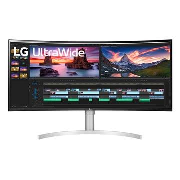 """LG 38WN95C-W 38"""" UltraWide Quad HD Nero, Argento, Bianco"""