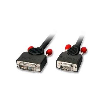LINDY 1m DVI-A/VGA Cable VGA (D-Sub) Nero