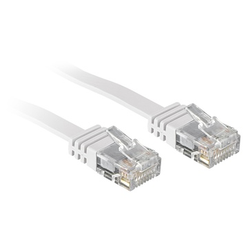 LINDY 2m Cat.6 cavo di rete Bianco Cat6