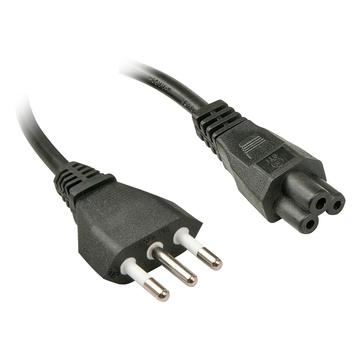LINDY 2m, CEI23-16-VII - IEC 320 C5 2m Accoppiatore C5 Nero cavo di alimentazione