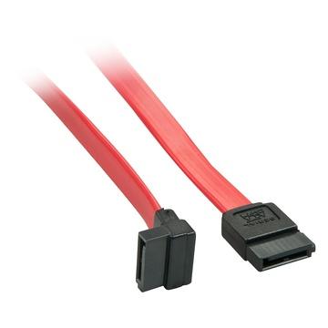 LINDY 33351 cavo SATA 0,5 m Nero, Rosso SATA 7-pin
