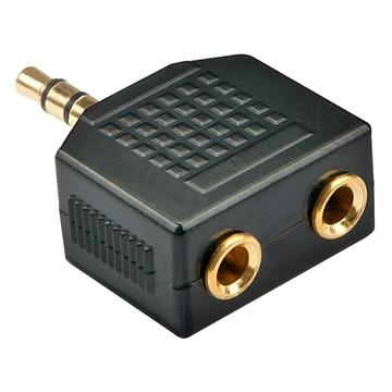 LINDY 35625 cavo di interfaccia e adattatore 2 x 3.5 mm Nero