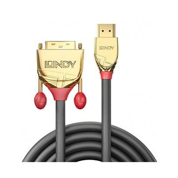 LINDY 36195 HDMI DVI-D Oro, Grigio cavo di interfaccia e adattatore