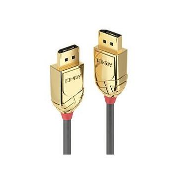 LINDY 36290 0.5m DisplayPort DisplayPort Oro, Grigio cavo DisplayPort