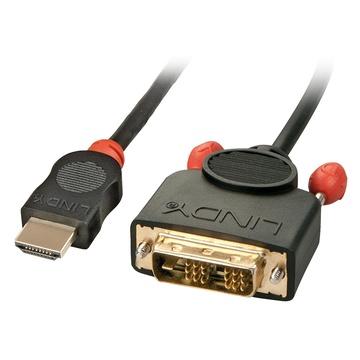 LINDY 36585 cavo di interfaccia e adattatore HDMI DVI-D Nero