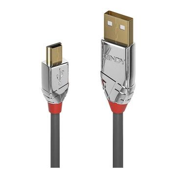 LINDY 36630 cavo USB 0,5 m 2.0 USB A Mini-USB B Grigio