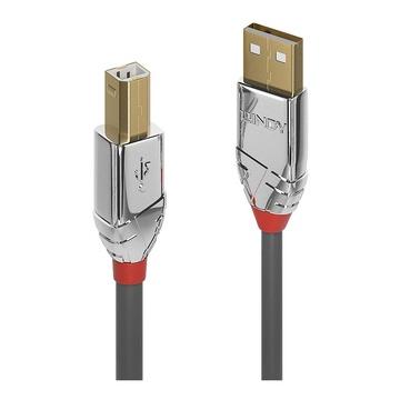 LINDY 36643 cavo USB 3 m 2.0 USB A USB B Grigio