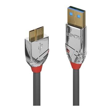 LINDY 36656 cavo USB 0,5 m 3.2 Gen 1 (3.1 Gen 1) USB A Micro-USB B Grigio
