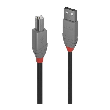 LINDY 36673 2m USB A USB B Maschio Maschio Nero cavo USB