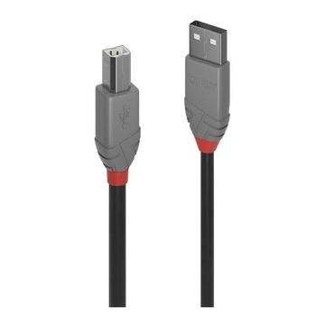 LINDY 36674 cavo USB 3 m USB A USB B Maschio Nero
