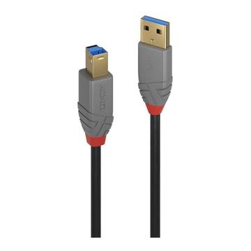 LINDY 36741 cavo USB 1 m 3.2 Gen 1 (3.1 Gen 1) USB A USB B Nero
