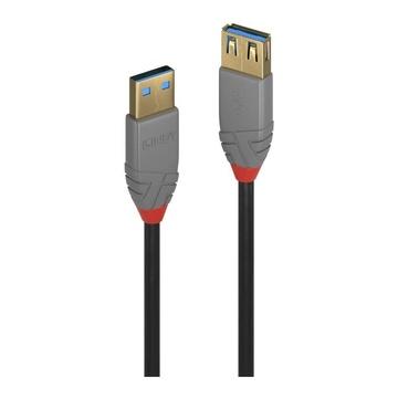LINDY 36760 cavo USB 0,5 m USB A Maschio Femmina Nero