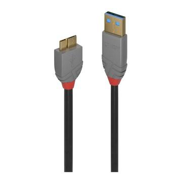 LINDY Cavo USB 3.0 1 metro 3.2 Gen 1 (3.1 Gen 1) USB A Micro-USB B Nero