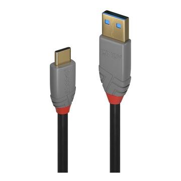 LINDY 36911 cavo USB 1 m USB C USB A Nero, Grigio