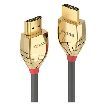 LINDY 37865 7.5m HDMI Type A (Standard) HDMI Type A (Standard) Oro, Grigio cavo HDMI