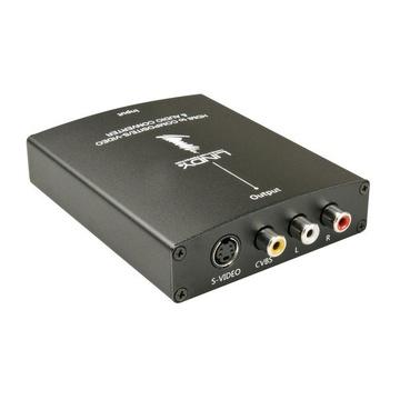 LINDY 38093 cavo di interfaccia e adattatore HDMI S-Video, 3xRCA Nero