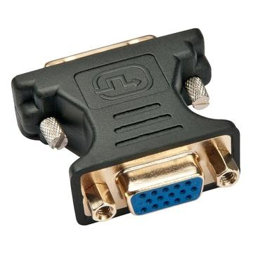 LINDY 41199 VGA DVI-I Nero, Oro cavo di interfaccia e adattatore
