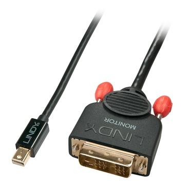 LINDY 41953 cavo di interfaccia e adattatore Mini displayport DVI-D Nero