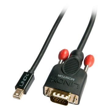 LINDY 41962 cavo e adattatore video 2 m VGA (D-Sub) Mini DisplayPort Nero