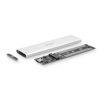 LINDY 43285 contenitore di unità di archiviazione M.2 Alloggiamento SSD Argento