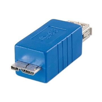 LINDY 71275 cavo di interfaccia e adattatore microUSB B USB A Blu