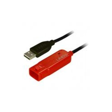 LINDY 8m USB 2.0 Cable 8m USB A USB A Maschio Femmina Nero cavo USB