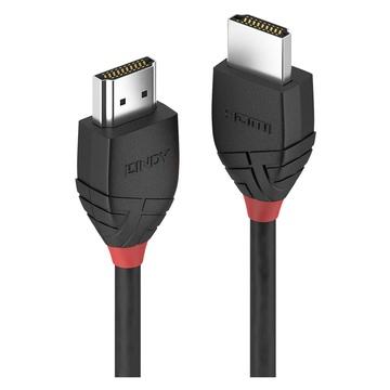 LINDY CAVO HDMI HIGH SPEED BLACK LINE, 0.5M