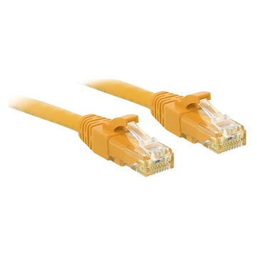 LINDY RJ-45/RJ-45 Cat.6 1m cavo di rete Cat6 U/UTP (UTP) Giallo