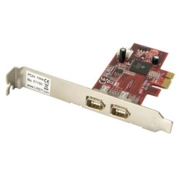 LINDY SCHEDA FIREWIRE PCI-E. 2 PORTE