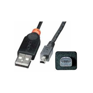 LINDY USB Cable, 2m cavo USB USB A Nero