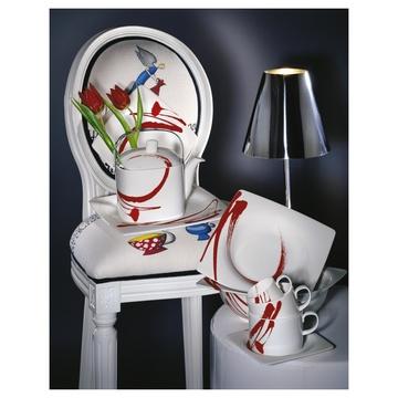 Livellara A0410757 piatto piano Quadrato Porcellana Rosso, Bianco 1 pezzo(i)
