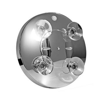 MACOM 211 Specchietto per trucco Ventosa Rotondo Cromo