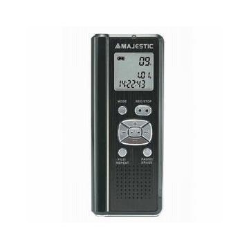 MAJESTIC Micro Registratore vocale, Memoria flash integrata 4GB, Display LCD