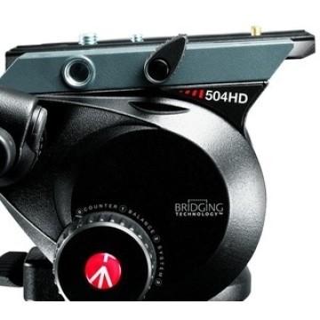 Manfrotto Testa video con semisfera 75mm e leva telescopica