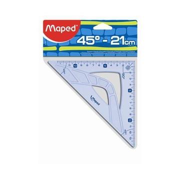 Maped 242421 squadra 45° triangle Plastica Blu, Traslucido