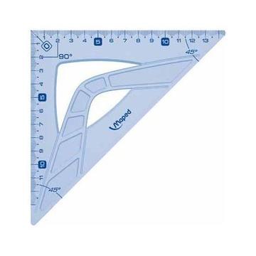 Maped 242426 squadra 45° triangle Plastica Blu, Traslucido