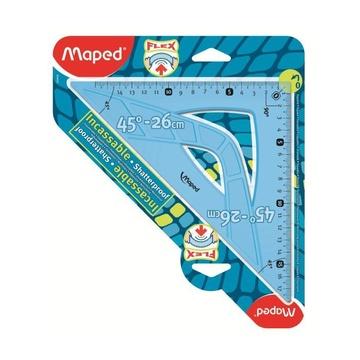 Maped Flex 45° triangle Plastica Blu, Traslucido