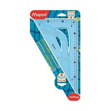 Maped Flex 60° triangle Plastica Blu, Traslucido