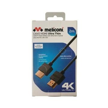 MELICONI 497014 cavo HDMI 2 m HDMI tipo A (Standard) Nero