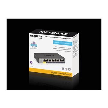 Netgear GS108Tv3 Gestito L2 Gigabit Grigio