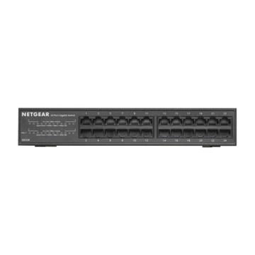 Netgear GS324 Non gestito Gigabit PoE Nero