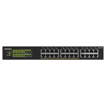 Netgear GS324P Non gestito Gigabit Nero PoE
