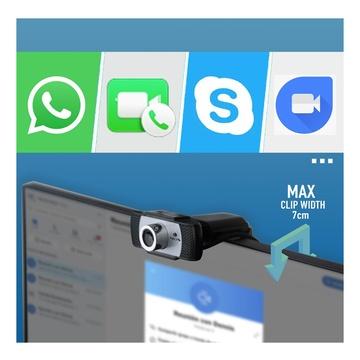 NGS XpressCam720 HD USB 2.0 Nero, Grigio, Argento
