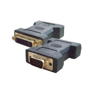 Nilox NX080200114 cavo di interfaccia e adattatore VGA DVI-I Nero