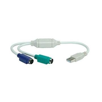 Nilox NX120200103 cavo di interfaccia e adattatore PS/2 USB Bianco