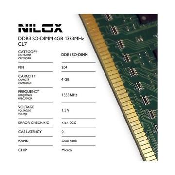 Nilox NXS41333M1C9 4GB PC3-10600 DDR3 1333 MHz