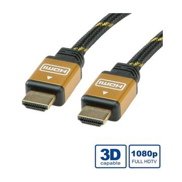 Nilox ROLINE 11.04.5506 cavo HDMI 10 m HDMI tipo A (Standard) Nero, Oro